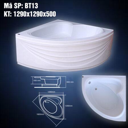 Bon tam BT13 450x450 - Bồn Tắm Góc Arcylic 1m3 BT13