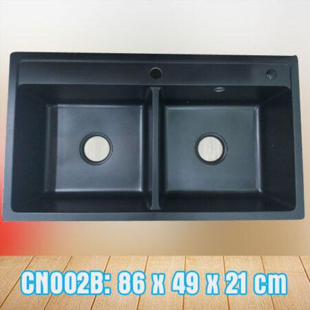 CN002B 450x450 - Chậu rửa chén đá nhập khẩu màu đen CN002B