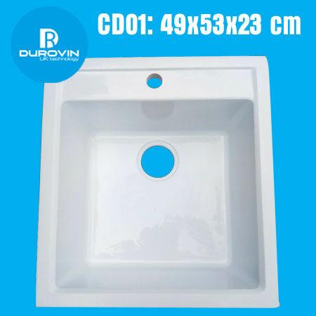Cd01 trang 450x450 - Chậu rửa chén đá VN sản xuất CD01