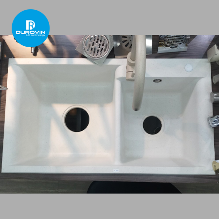 Chauruachendanhap 001a 450x450 - Chậu rửa chén đá nhập khẩu màu trắng CN001A