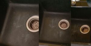loi tren chau rua chen da 300x153 - Các lỗi thường gặp khi sử dụng chậu rửa chén đá