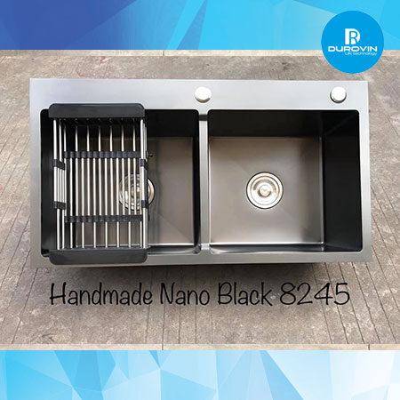 nano0 450x450 - Chậu rửa chén đôi inox 304 nano đen 82x45