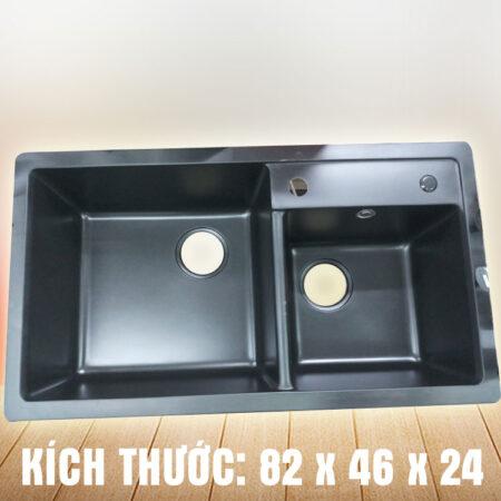 Chau rua chen da nhap 450x450 - Chậu rửa chén đá nhập khẩu màu đen CN003B