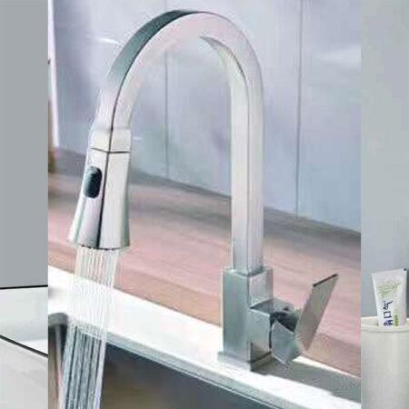 K6015 1 450x450 - Vòi rửa chén nóng lạnh inox 304 K6015