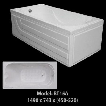 BT15A 2 450x450 - Bồn Tắm Nằm Arcylic 1m5 BT15A