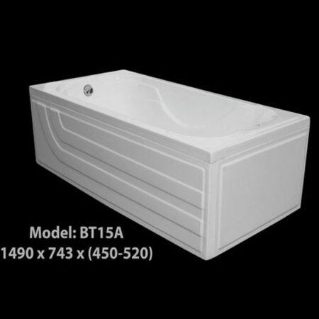 BT15A 450x450 - Bồn Tắm Nằm Arcylic 1m5 BT15A