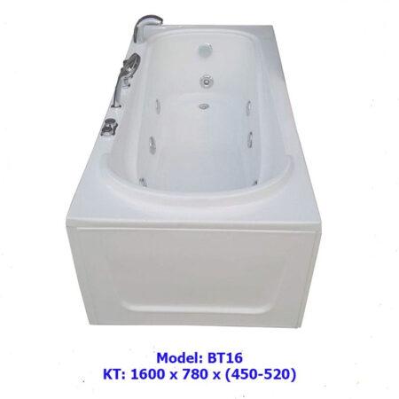 BT16A 2 450x450 - Bồn tắm nằm kích thước 1m6 BT16A