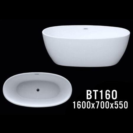 BT16O 450x450 - Bồn tắm nằm kích thước 1m6 BT16O