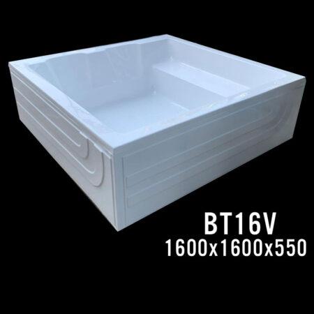 BT16V 2 450x450 - Bồn tắm đôi kích thước 1m6x1m6 - BT1616