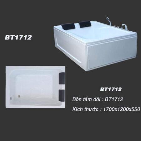 BT1712A 450x450 - Bồn tắm đôi kích thước 1m7x1m2 - BT1712