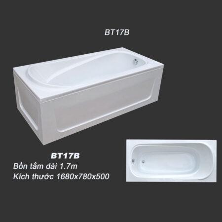 BT17B 2 450x450 - Bồn tắm nằm kích thước 1m7 BT17B