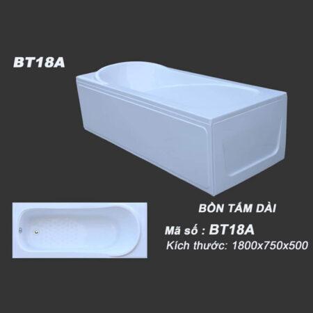BT18A 3800k 450x450 - Bồn tắm nằm kích thước 1m8 BT18A