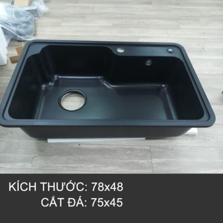 chau da nhap 2 450x450 - Chậu rửa chén đá nhập khẩu màu đen CN004A