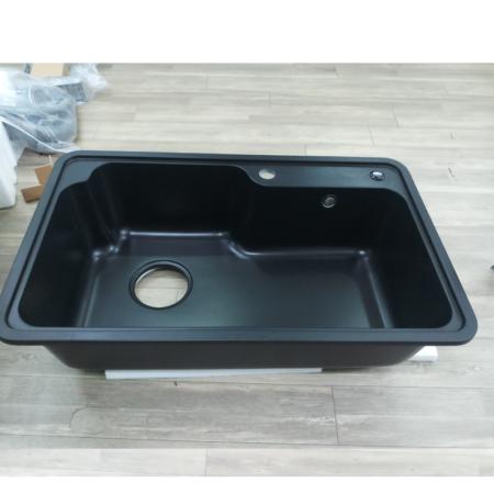 chau da nhap 450x450 - Chậu rửa chén đá nhập khẩu màu đen CN004A