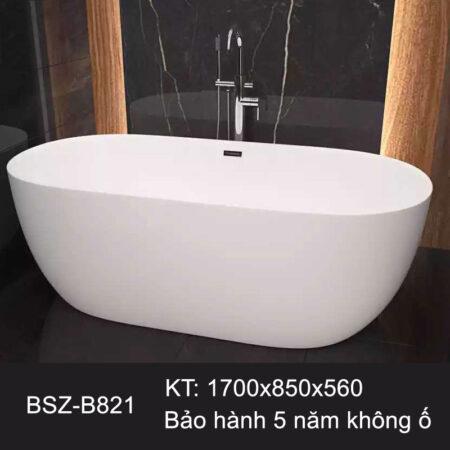 BSZ B821 2 450x450 - Bồn tắm nhập khẩu màu trắng BSZ-B821
