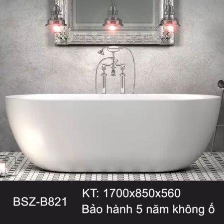 BSZ B821 3 450x450 - Bồn tắm nhập khẩu màu trắng BSZ-B821